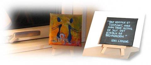 små malerier med citater Citat malerier af Christina Christiansen små malerier med citater